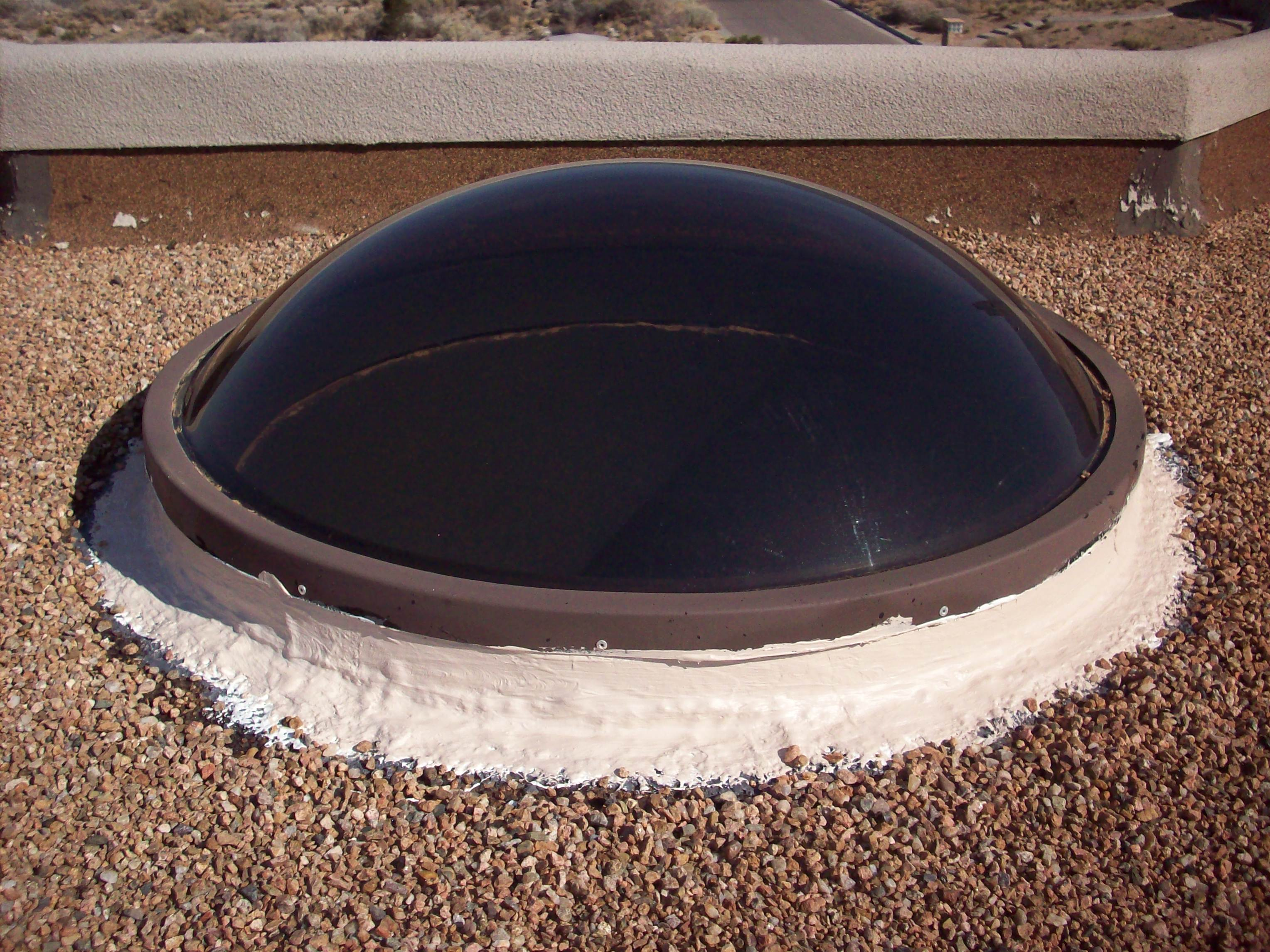 Sealed Skylight On Tar And Gravel Roof