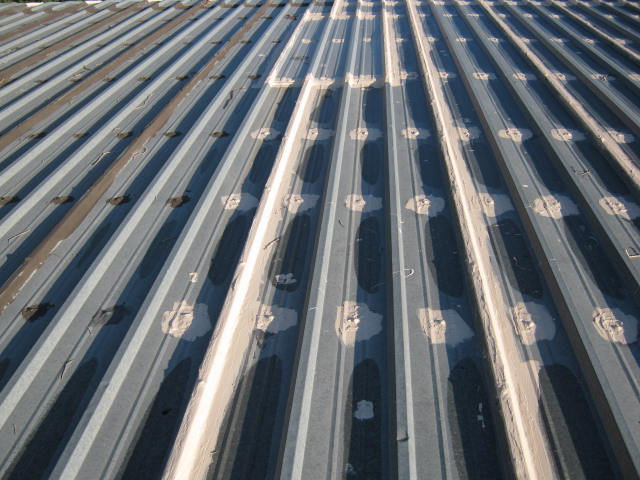 Metal Roof Restoration/ Seams and Boltheads
