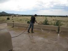 Pressure Washing a Foam Roof